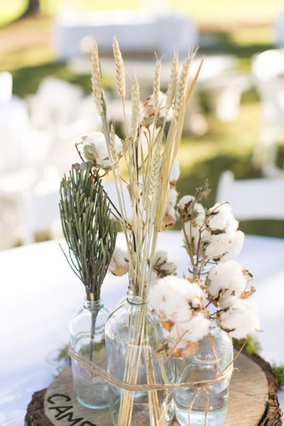 Magnolia farms rustic centerpieces and farm wedding on