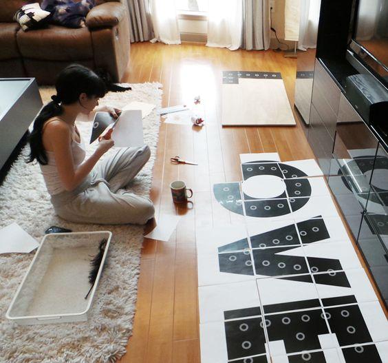 DIY Carpa letras- evanandkatelyn.com