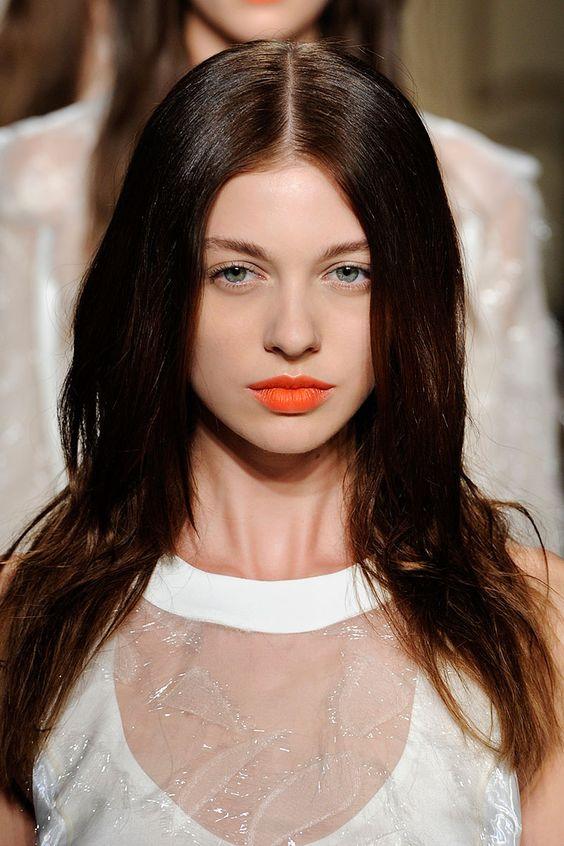 Tendencias belleza labios naranja anaranjados
