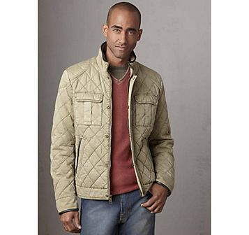 Johnston & Murphy: QUILTED COTTON FOUR-POCKET JACKET - Khaki