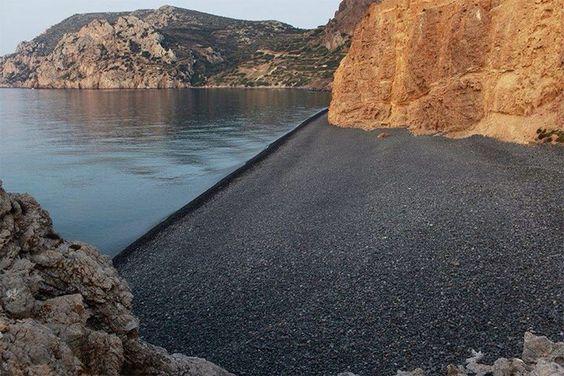 Mavra Volia Beach, Chios Island, Greece ☀️