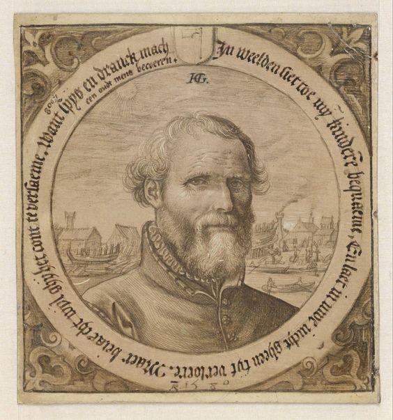 Portrait of Jan Baertsz., Hendrick Goltzius, 1580 | Museum Boijmans Van Beuningen