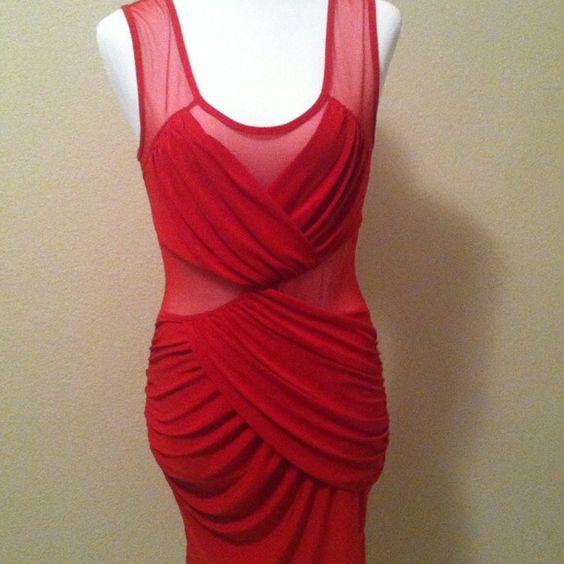 Selling this Fire Body-con dress. Size medium. Lycra & chiffon on Poshmark! My username is: lockame_outlet. #shopmycloset #poshmark #fashion #shopping #style #forsale #Dresses & Skirts