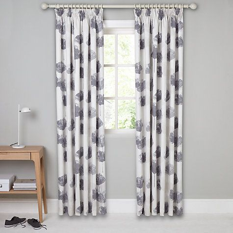 Buy John Lewis Waterlily Blackout Lined Pencil Pleat Curtains ...