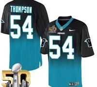 Nike Carolina Panthers #54 Shaq Thompson BlackBlue Super Bowl 50 Men's Stitched…