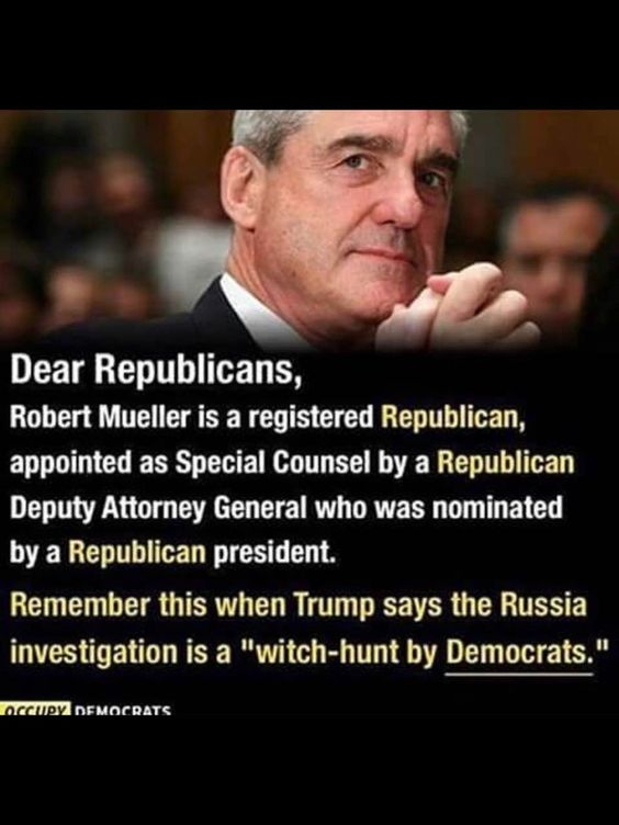 Robert Mueller is a registered Republican