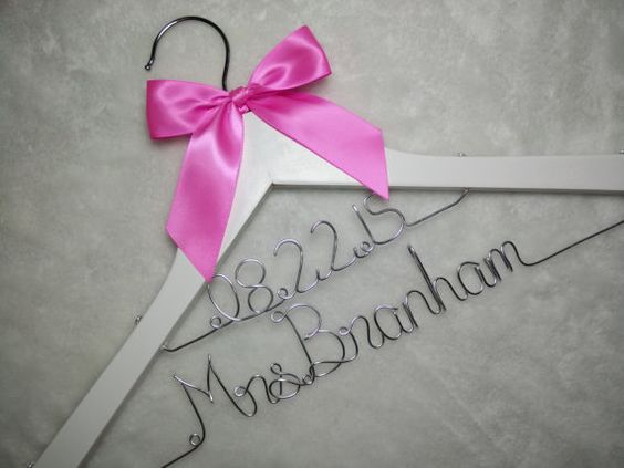 Double line hanger Personalized Wedding Hanger by Brightwedding