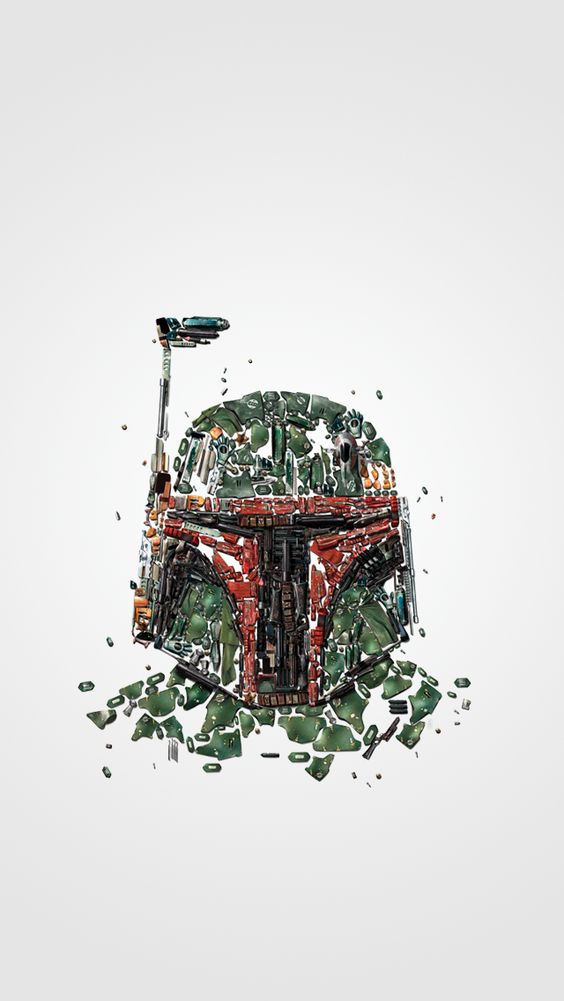 Boba Fett Scraps IPhone 5 Wallpaper