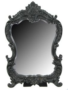 Standing mirror: Black Lace, Black Mirror, Resin Scroll, Bathroom Mirror, Frame Shop