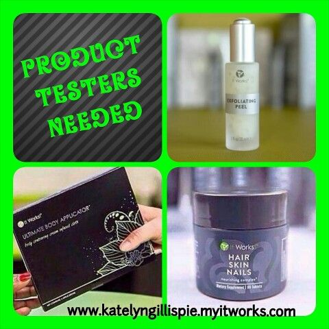 Product testers needed! You would be paying my price, rather than retail for 3 months! Message or text me if interested!!! #ItWorks #wraps #tighten #tone #firm  #cellulite #tummy #stomach #skinnyjeans #gym #definition #stretchmarks #HSN #HairSkinNails #hair #skin #nails #hairdo #updo #fishtail #braids #ExfoliatingPeel #exfoliate #peel #rejuvinated #young #fresh #Omaha #Nebraska #moms #dads #women #men  www.katelyngillispie.myitworks.com   katelynrachelle85@yahoo.com     (402) 650-3079