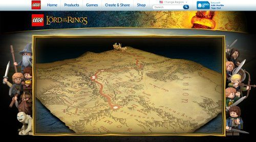 New content on the official LEGO Lord of the Rings site