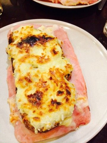 French food! Croque Monsieur #hamandcheese #yummy