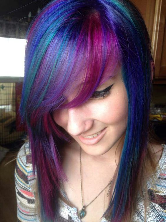 This kind of combination of colors is gorgeous --- Manic panic hot hot pink, ultra violet, and atomic turqouise