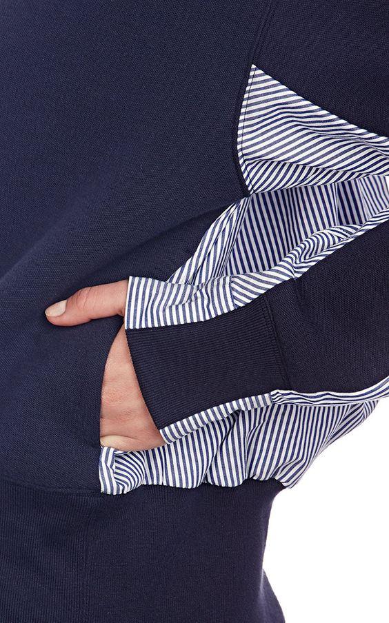 Blouson-Back Sweatshirt