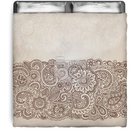 Ornate Henna Paisley Comforter at http://www.visionbedding.com/ornate-henna-paisley-doodle-vector-design-elements-queen-full-comforter-p-3093382.html