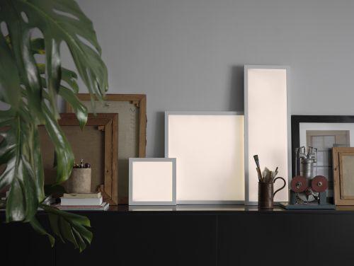 DIE FLOALT Lichtpaneele gibt es in verschiedenen Größen und