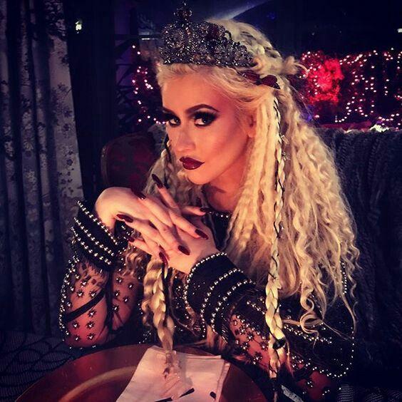 "christina aguilera ""xtina"" Halloween attire."