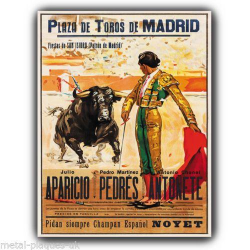 Vintage Travel POSTER.Torero.Matador Bullfighter.wall House ...
