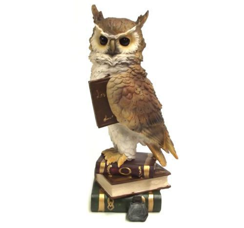 owl statues and figurines Owl Ornament Bird Figurine Garden