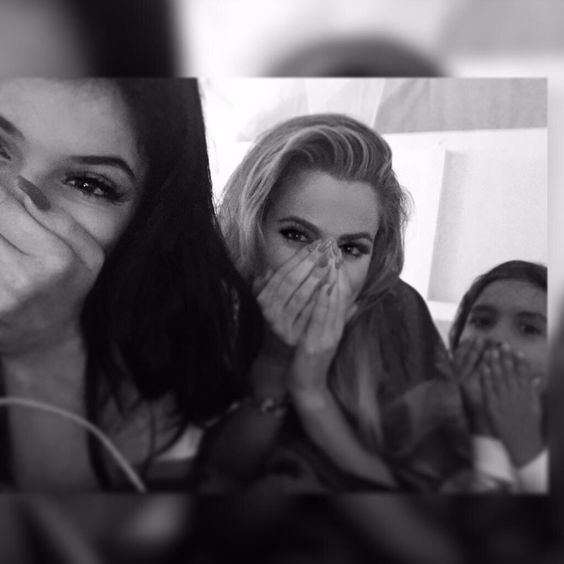 Kylie, Khloe and Mason