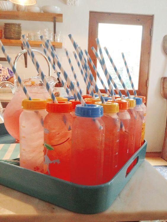 pour rafraichier vos invités lors de votre baby shower #babyshower #paille #biberon