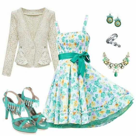 Cute dress and maybe the jacket but dont like the rest