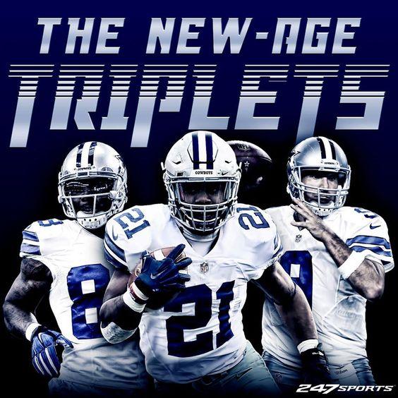 This is going to be fun, Dallas Cowboys fans!!! New-Age Triplets: Dez Bryant, Ezekiel Elliott, Tony Romo. #CowboysNation