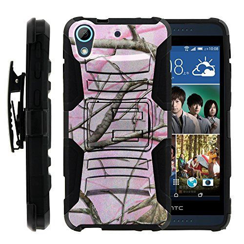 Buy HTC Desire 626 Case, HTC Desire 626 Holster, Two Layer Hybrid Armor Hard Cover Pink Hunter Camouflage NEW for 13.99 USD | Reusell