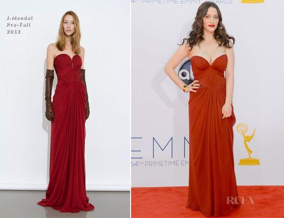 Kat Dennings In J. Mendel – 2012 Emmy Awards