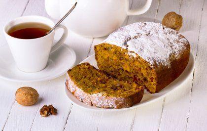 Bread cake au potiron, raisins et noix sur Orange Tendances