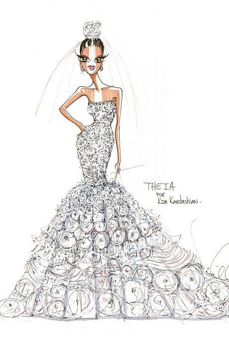 kim-kardashian-wedding-dress-theia-sketch.jpg (460×680)