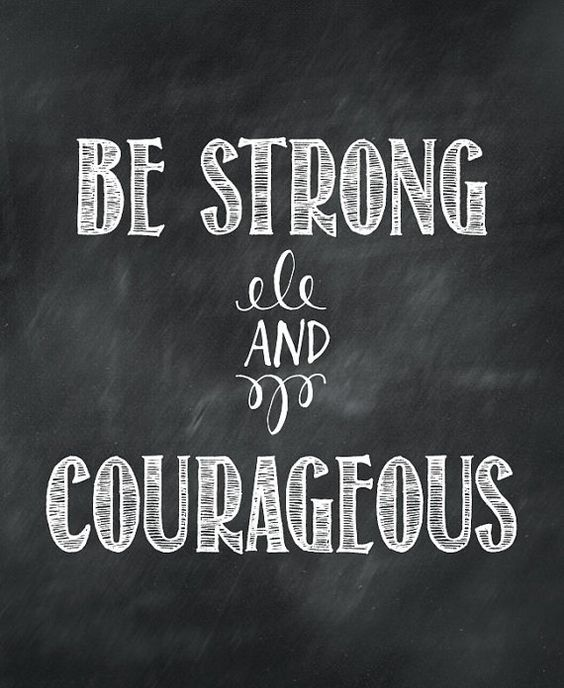 Be Strong And Courageous Quotes Bible Verse  Chalkboard Art Quote  Instant Download Printable Art