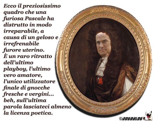 Distrutto un quadro preziosissimo che ritraeva Berlusconi