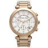Michael+Kors+Watch,+Women's+Chronograph+Parker+Rose+Gold-Tone+Stainless+Steel+Bracelet+39mm+MK5806