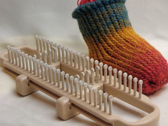 Knitting Socks On A Loom : How to loom knit socks on a sock pinterest