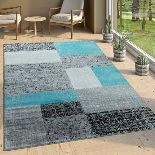 17 Stories Turquoise Grey Rug Grey Rugs Grey And White Rug