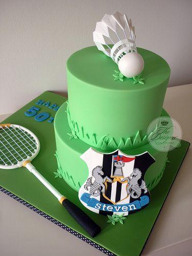 Sports themed 50th birthday cake