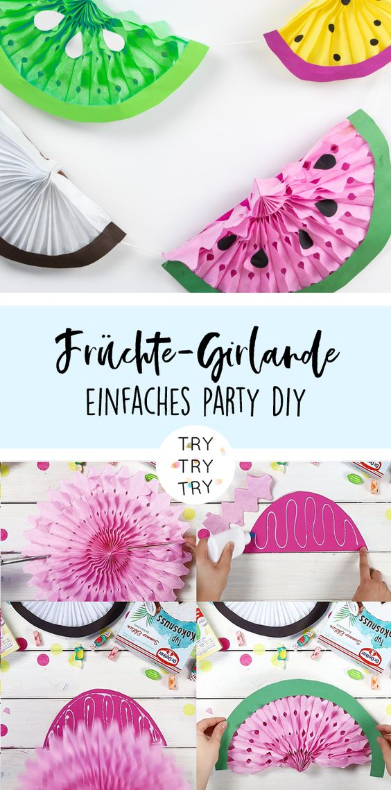Frucht-DIY's für eine Summer Party mit der Summer Edition von Dr. Oetker