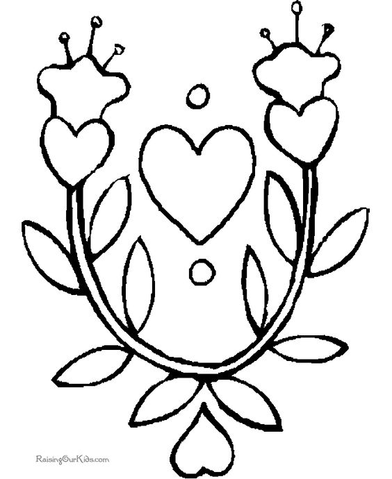 free valentines day kids coloring pages sheets and pictures hearts flowers cupid and more these coloring pages sheets and pictures will keep kids - Coloring Pages Hearts Flowers