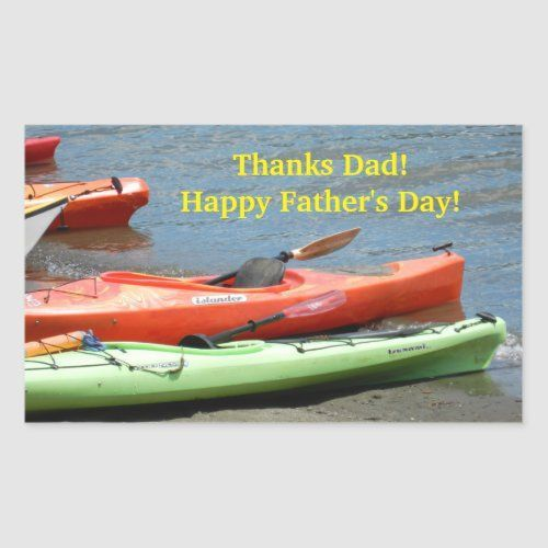 Kayak Father S Day Rectangular Sticker Derin Father Sday In 2020 Happy Father Day Quotes Kayaking Happy Fathers Day