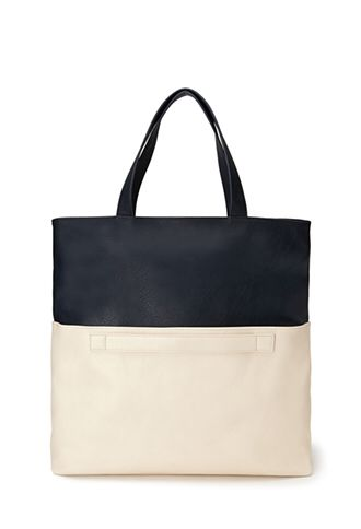 Colourblocked Faux Leather Tote from Forever 21 $29,90