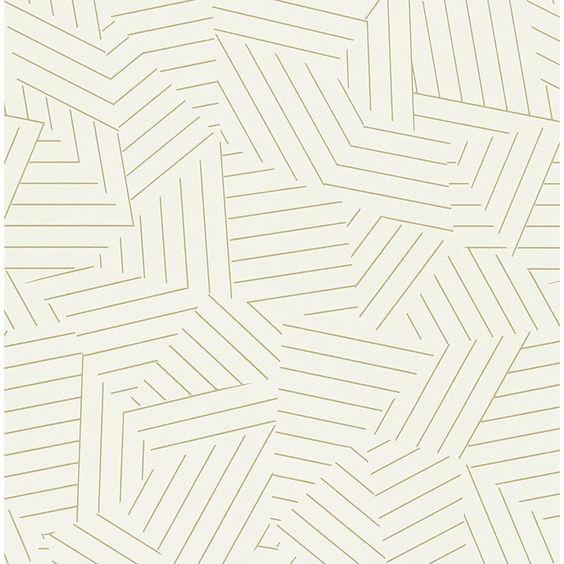 """Schumacher Deconstructed Stripe 13.5' x 27"""" Wallpaper Roll"""