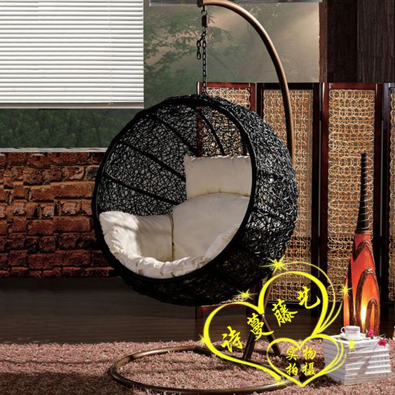 Rattan Swing Hammock Lounged Hanging Basket Cradle Chair