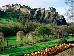 Edinborogh Castle, Edinborough, Scottland, with Jen, I remember feeling like I climbed up a mountain