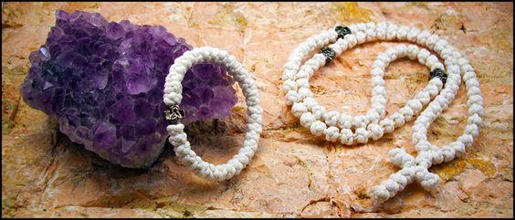 33Knots White #Prayer #Bracelet and #Necklace 33knots.com
