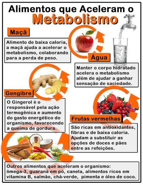 Alimentos Que Ajudam A Acelerar O Metabolismo E Queimar Gordura