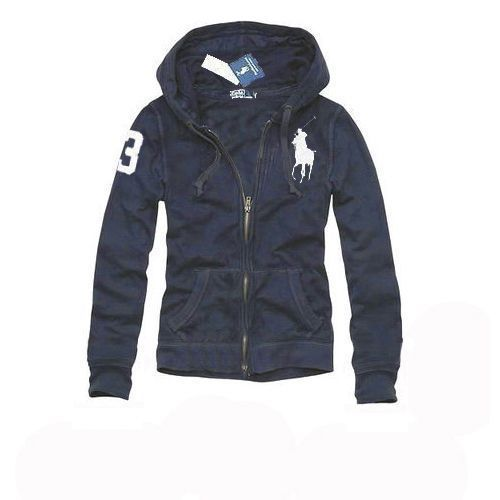 Polo Ralph Lauren Womens Big Pony Pullover Hoodie Newport Navy