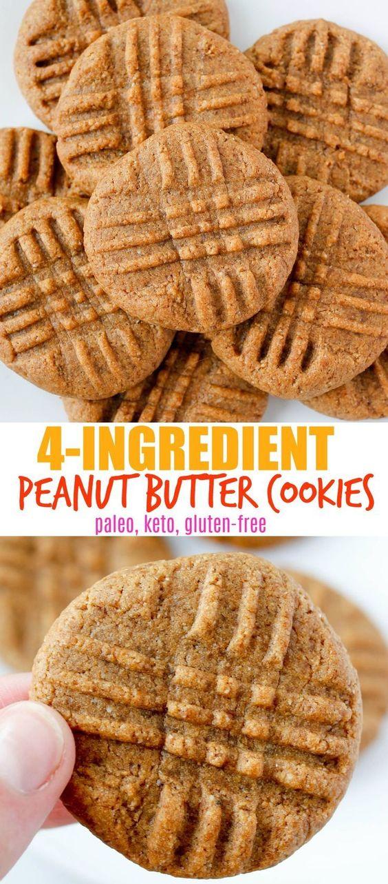 4-Ingredient Paleo Peanut Butter Cookies