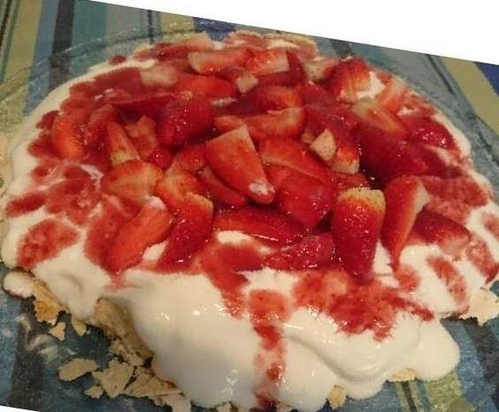 Receita Pavlova morango por Sandra Romualdo - Categoria da receita Sobremesas