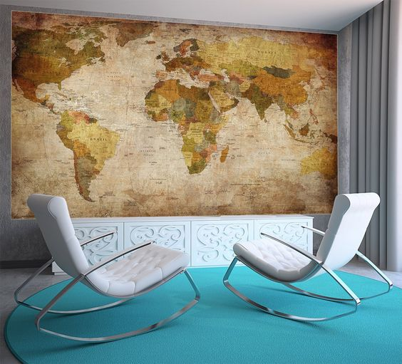 weltkarte poster xxl fototapete retro world map pinnwand leinwand poster xxl fototapete. Black Bedroom Furniture Sets. Home Design Ideas